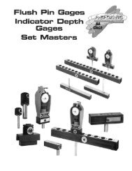 Flush Pin & Indicator Depth Gage Brochure [.pdf - AG Davis