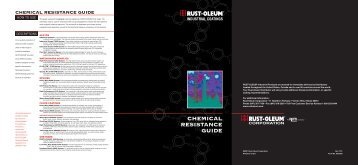 CHEMICAL RESISTANCE GUIDE - RustoleumIBG.Com
