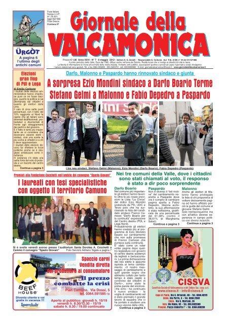 GdV N° 07 del 2012 Il Giornale della Valcamonica