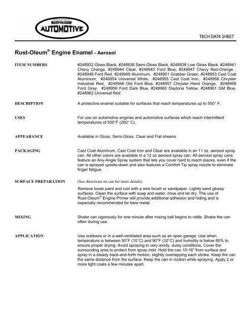 Rustoleum Protective Enamel Spray