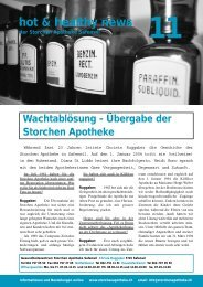 hot & healthy news 11 - Storchen Apotheke AG, Safenwil