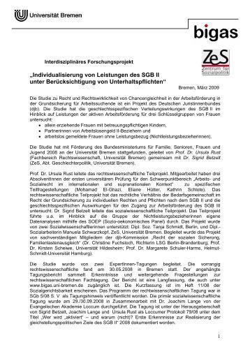 Individualisierung von Leistungen des SGB II unter - Deutscher ...