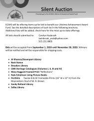 ECAHS 2020 Silent Auction Catalog