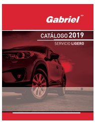 Gabriel Catálogo Servicio Ligero 2019