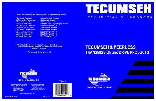 TECUMSEH & PEERLESS - Small Engine Suppliers
