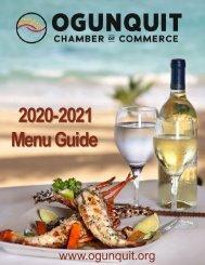 Ogunquit Menu Guide 2020