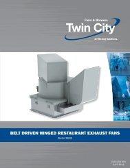 Belt driven hinged reStAurAnt exhAuSt FAnS - Twin City Fan & Blower