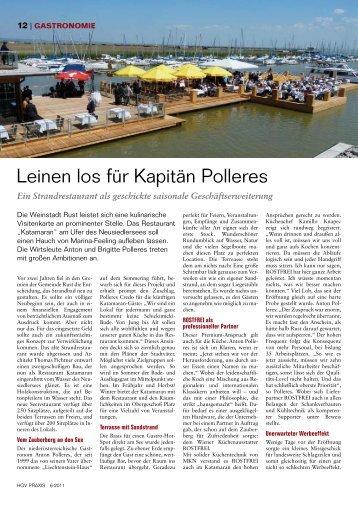Leinen los für Kapitän Polleres
