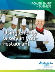 Power Smart for Business: Using Energy Wisely in ... - Manitoba Hydro