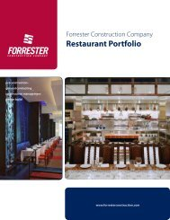 Restaurant Portfolio - Forrester Construction
