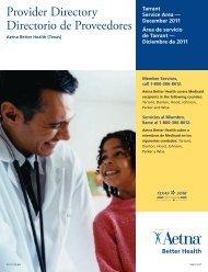 Provider Directory Directorio de Proveedores - Aetna Medicaid