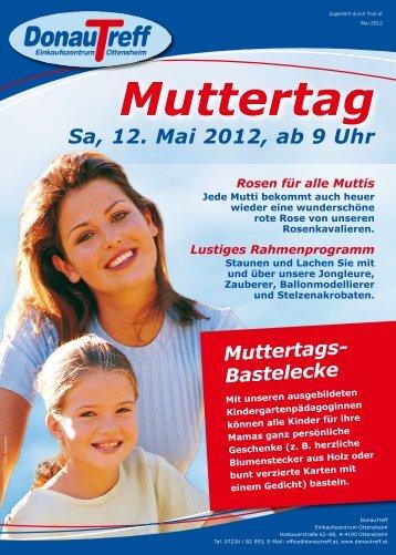 Muttertags- Bastelecke Mit unseren ausgebildeten - Donautreff