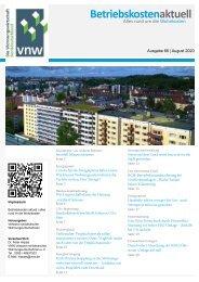Betriebskosten Aktuell - Ausgabe August 2020