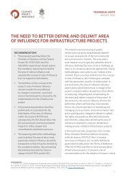 The Need to Better Define and Delimit Area of Influence for Infrastructure Projects