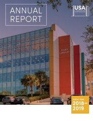 USA Libraries Annual Report 2018-2019