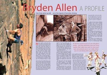 Profile of Bryden Allen - Bryden Allen Home Page