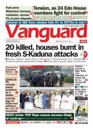 07082020 - 20 killed, houses burnt in fresh S-Kaduna attacks