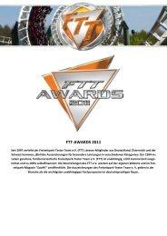 FTT-AWARDS 2011 - Freizeitpark Tester Team