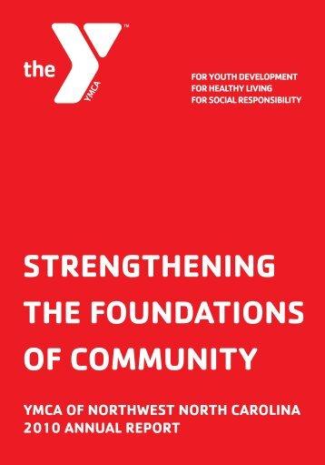strengthening the foundations of community - YMCA of Northwest ...