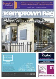 Dine as a VIP at the Townhouse Restaurant - The Kemptown Rag