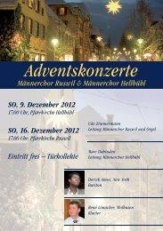 Adventskonzerte - beim Männerchor Ruswil