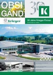 OBSI GÄND 30 Jahre Krieger-Firmen 2000 - Krieger AG