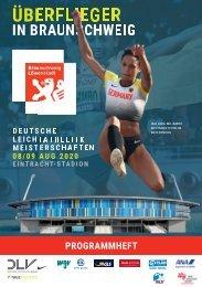 Das Programm zu den 120. Deutschen Leichtathletik-Meisterschaften in Braunschweig