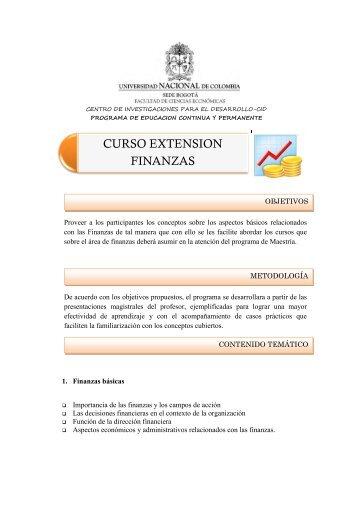 CURSO EXTENSION FINANZAS - Centro de Investigaciones para el ...
