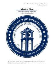 SGA Master Plan