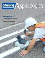 ASPHALTopics | Fall 2003 | VOL 16 | NO 3