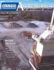 ASPHALTopics | Spring 2004 | VOL 17 | NO 1
