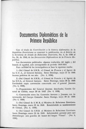 Documentos Diplomaticos de la Primera Republica - BAGN