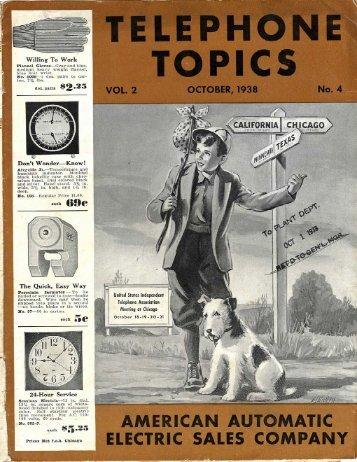 1938 Telephone Topics Magazine Oct issue - Stromberg-Carlson ...