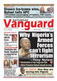 08082020 - Why Nigeria's Armed Forces cant fight terrorism