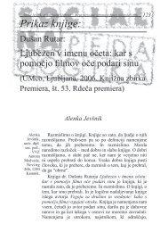 Socialna pedagogika 10(1) 123-130 (2006). Prikaz knjige Ljubezen ...