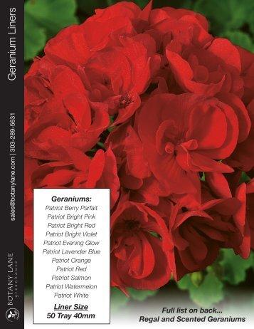 Geranium Liners