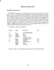 Physical Elements - SLAC