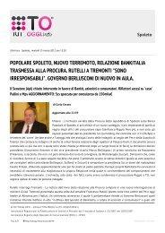 popolare spoleto, nuovo terremoto, relazione bankitalia ... - Tuttoggi