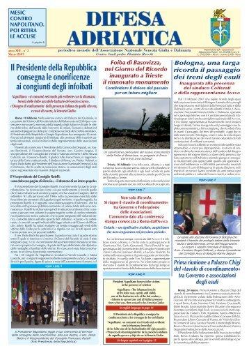 Il numero di Marzo 2007 - Associazione Nazionale Venezia Giulia e ...
