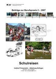 2007 Schulreisen Institut Primarstufe - alv
