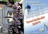 Terminkalender 2009 - Musikverein Bergatreute eV