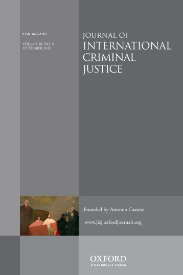 Front Matter (PDF) - Journal of International Criminal Justice