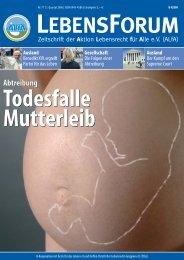 ALfA e.V. Magazin – LebensForum | 77 1/2006