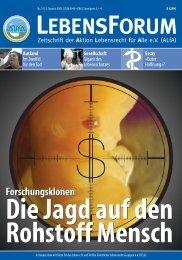 ALfA e.V. Magazin – LebensForum | 74 2/2005