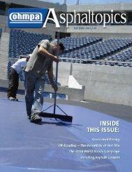 ASPHALTopics | Fall 2004 | VOL 17 | NO 3