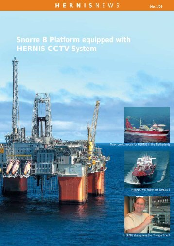 Snorre B Platform equipped with HERNIS CCTV System