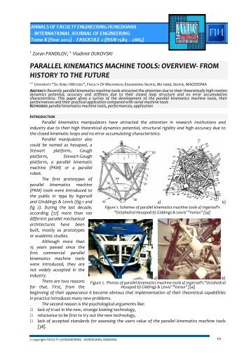 parallel kinematics machine tools: overview- from history to the future