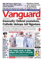 11082020 - Insecurity: Defend yourselves, Catholic bishops tell Nigerians