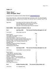 "Index of : ""Decca News"" ""Decca Navigator News"""
