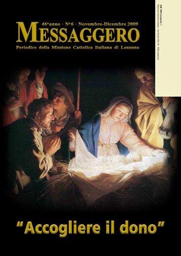 No 6 · Novembre-Dicembre 2009 - Missioni cattoliche di lingua italiana